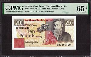 Northern Ireland 10 Pounds 30th August 1996 Pick-194c GEM UNC PMG 65 EPQ