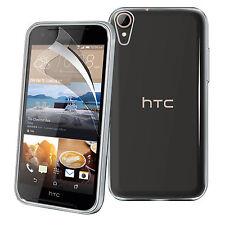 ULTRA Sottile Trasparente TPU Gel Skin Case Cover & LCD Film per HTC Desire 830