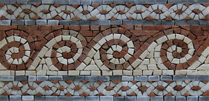 Handmade Wavy Chain Frame Border Art Decor Home Design Marble Mosaic BD81