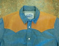 NEW PENFIELD TRAILWEAR RETRO WESTERN BLUE DENIM SHIRT S YOKE vtg lvc jacket vest
