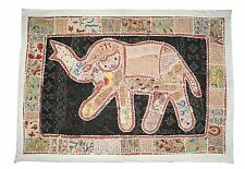 Vintage Wall Hanging Elephant Patchwork Throw Tapestry Table Runner Boho Decor