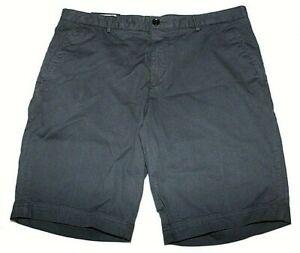 HUGO BOSS Slice Regular Fit Twill Shorts Dark Blue Size US 38 / EU 54 NWT $128