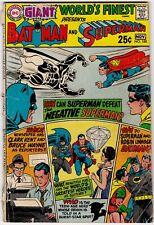 World's Finest Comics Giant Batman & Superman #188 Nov 1969 Silver Age DC Comic