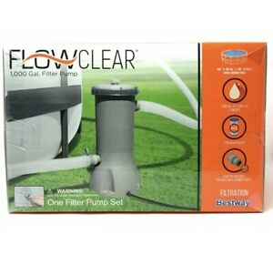 NEW Bestway Flowclear 1000 GALLON GPH Above Ground Swimming Pool Filter Pump
