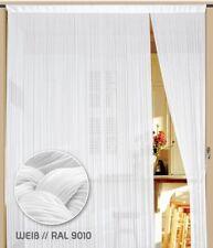 Fadenvorhang Vorhang Gardine Kaikoon 90 cm x 240 cm weiß (BxH) Farbe Weiß