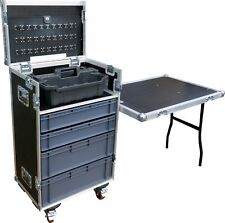 Mechanics Tool & Drawer Swan Flight Case with Stanley Tote Tray and Table (Hex)