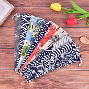 Cutlery Case Drawstring Bag Portable Tableware Bag Cotton Linen Travel Spoon_cd
