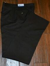 Sansabelt Polyester Dress Pants Brown 38 LONG Flat Front New Unhemmend
