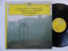 MENDELSSOHN Symphonies 2531097 LEONARD BERNSTEIN