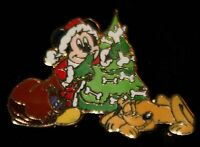 Disney Santa Mickey Mouse & Pluto Christmas Advent Pin 2007 LE 1000