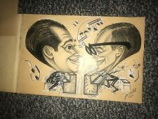 Dueling Pianos Original Art Drawing By Junell