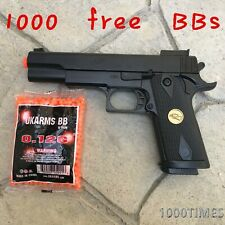 Spring Airsoft Gun Pistol Full Size  with 1000 free BBs Double Eagle in gift box