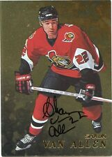 98-99 BE A PLAYER SIGNATURE AUTOGRAPH AUTO GOLD SHAUN VAN ALLEN SENATORS *35300