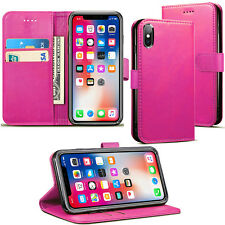 For iPhone XS MAX, XR, XS, X - Luxury PU Leather Wallet Case Cover- Best Quality