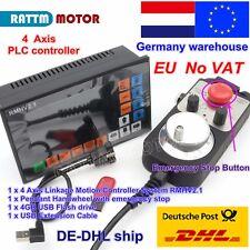 【NL】4 Axis CNC Offline G Code Motion Driver Controller PLC &Handwheel MPG E-Stop
