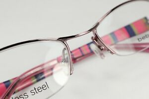 BEBE DESIRE in Pink Stripe 53-18-130 Eyeglass Frames Authentic A127