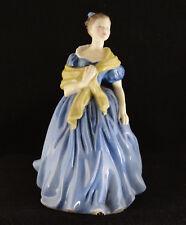 "Royal Doulton Adrienne Blue Dress Hn 2304 (7 3/4"" Tall)"
