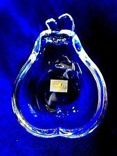 STUDIO NOVA Leaded Crystal Pear Shaped Glass Teabag Caddy/Tea Bag Holder