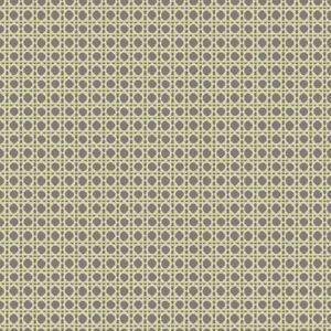 Caning Wallpaper by Carey Lind   Beige, Silver/Gray    EB2009    per Double Roll