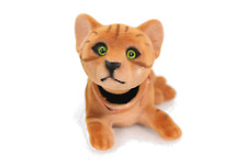 Playful Bobblehead Kitten Cat with Auto Dashboard Adhesive (Brown)