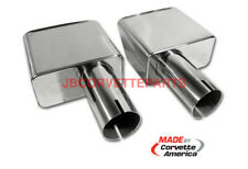 70 71 72 Corvette Exhaust Tip Extension Set Stainless Steel NEW