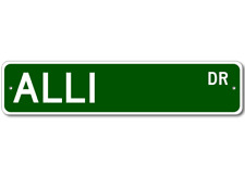 ALLI Street Sign - Personalized Last Name Signs