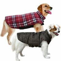 Red//Charcoal Reversible Double Layered Fleece Lux Dog Coat ~ Extra Small