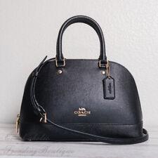 NWT Coach F27591 Crossgrain Leather Mini Sierra Satchel in Black