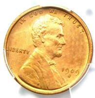 1909-S VDB Lincoln Wheat Cent Penny 1C - PCGS Uncirculated Detail (MS BU UNC)!