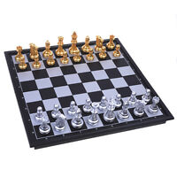 Travel Folding Magnetic Chess Set, Folable Board with Magnetic Chess