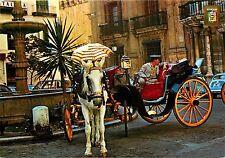 Malaga Costa Bishop's Square Plaza del Obispo Spain horse carriage Postcard