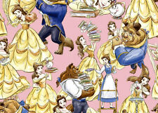 DISNEY BELLE THE BEAUTY & THE BEAST  MRS POTTS CHIP  100% COTTON FABRIC  YARDAGE