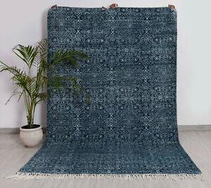 6x9 Rug Handmade Modern Rug Wool Rug....#8772 (180x275 Cms.)