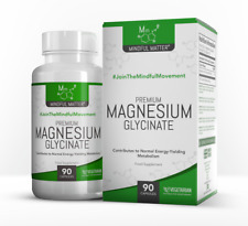 Magnesium Glycinate Capsules HIGH Strength 250mg by Mindful Matter
