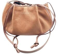 See by Chloe Brown Straw Leather Crossbody Bag