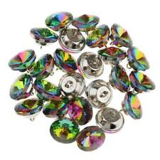25 Colorful Crystal Upholstery Buttons Sewing Button for Sofa DIY Decor 20mm