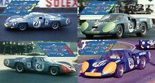 Decals Alpine A220 Le Mans 1968 1:32 1:24 1:43 1:18 64 87 slot calcas