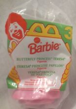 McDonald's Barbie Butterfly Princess Teresa Figurine #3 1994 NEW