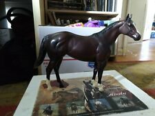 Peter Stone quarter horse model, Clinton Anderson's Mindy with box