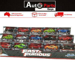 Fast & Furious Assorted Cars Hollywood Rides 1:32 Jada 10 Cars to Chose From