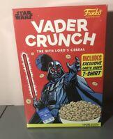 FUNKO Darth Vader Crunch STAR WARS Cereal Box Boxed Tee Shirt XL NIB rare Disney