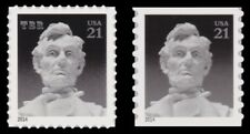 4860-61 4861 Abraham Lincoln 21c Variety Set of 2 Stamps From 2014 MNH - Buy Now