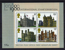 GREAT BRITAIN 1978 BUILDINGS M/S PHOSPHOR OMITTED WMS 38be MNH.