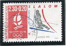 STAMP / TIMBRE DE  FRANCE OBLITERE N° 2676 JO ALBERVILLE SKI SLALOM