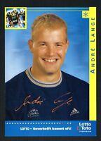 Andre André Lange signed autograph auto 4x6 Small Photo / Postcard