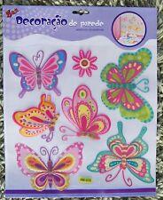 Baby Child Nursery Children Kid Girl Butterfly Flower Wall Sticker Decal Bedroom