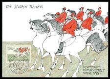 FL MK 1988 OLYMPIA REITEN PFERDE PFERD HORSE CARTE MAXIMUM CARD MC CM ba18