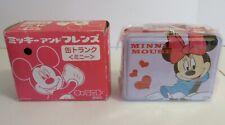 1970's Rare Japan Minnie Mouse Lunchbox Gem Mint Unused original Box Wow !!!