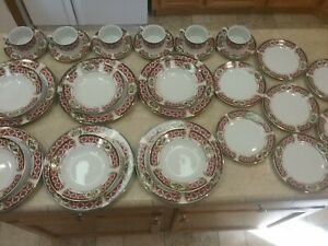 Gibson Holiday Gold Dinnerware Set 30 Pcs Service for 6 CHRISTMAS WINDSOR