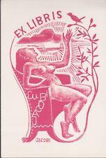 ex-libris JACOBI (femme nue)